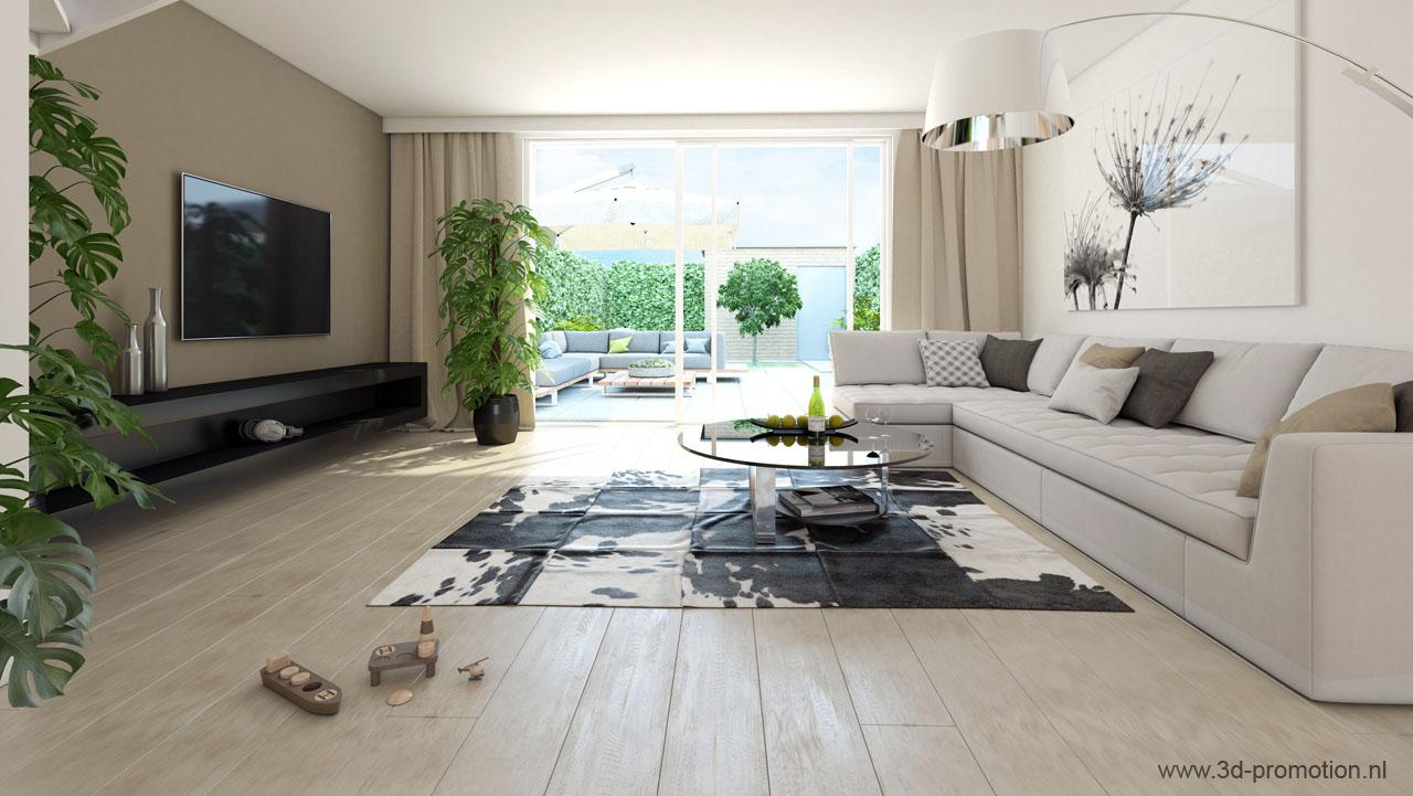 Top kwaliteit 3d interieur visualisatie voor beste prijs for Compleet interieur woonkamer